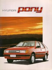 Hyundai Pony 1988 UK Market Sales Brochure Saloon Hatchback L GL GLS 1.3 1.5