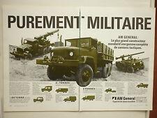 12/1981 PUB AM GENERAL M825 M816 M818 M813 M817 TRUCKS CAMIONS MILITAIRES AD
