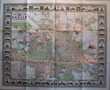 Monumental Plan von Berlin 1896 Stadtplan Karte Reichshauptstadt Kartographie RP