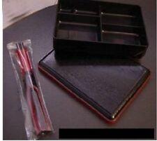 BENTO BOX SET match AS IS Chopsticks boat JAPANESE obento banto ohaku boxes lid