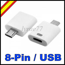 Adaptador 8 PIN a Micro USB Lightning iPhone Cable Conversor iPod iPad Dock