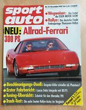 Sport Auto 12/1987 - Lancia Delta HF Integrale - Donkervoort - Ferrari 408