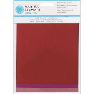 Martha Stewart Foil Transfer Sheets