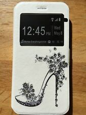 Bling crystal High heel clear window new phone case cover for iphone 5 5s SE