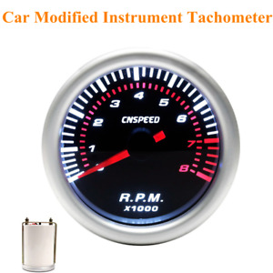 12v Car Modified Instrument Tachometer 2 Inch (52mm) With White Light Tachometer