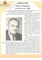 Adolph Rupp signed Program Cut JSA LOA NCAA Kentucky Coach d.1977 Z415
