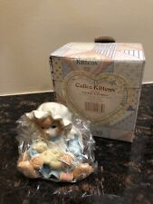 """New Nib Nos 1994 Enesco Calico Kittens """"You Make It All Better"""" Sewing 102202"""