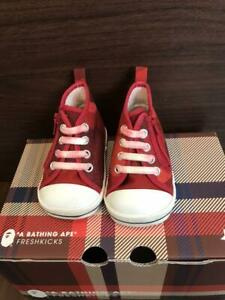 A BATHING APE Bapesta Baby Sneaker Shoes Red US Kid5 Used from Japan F/S