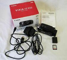 Canon Vixia HF R50 Camcorder Video Camera Full 1080 HD MP4 Complete In Box
