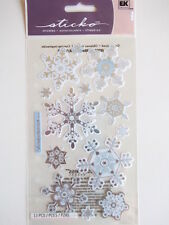 STICKO STICKERS -  VELLUM SNOWFLAKES winter snow Christmas