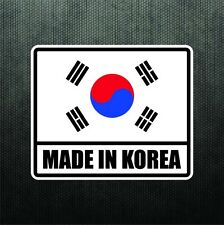 Made In Korea Vinyl Bumper Sticker Decal KDM Car Sticker Hyundai Genesis Kia