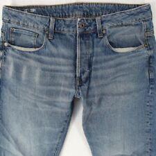Mens G-Star 3301 SLIM Slim Leg Blue Jeans W33 L30