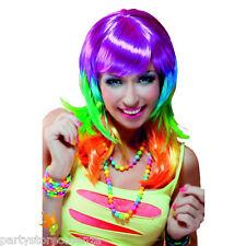 parrucca kandy femminile multicolore carnevale travestimenti halloween ragazza