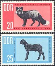 Germany 1963 Red Fox/Lamb/Fur/Animals/Nature/Clothes/Commerce 2v set (n43929)