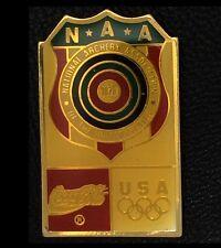 National Archery Association~Olympic Pin Badge~NAA~USA~Sponsor~Coca Cola~Coke