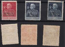 SOMALIA 1925 MLH Nuovi Giubileo Re Sovrastampati 3 valori SS. 67/68/69 DENT. 11