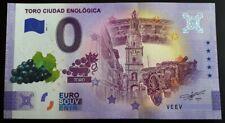 Billet Souvenir 0 euro Espagne Toro Ciudad Enlogica Couleur Color 2021