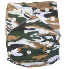 Modern Cloth Reusable Washable Baby Nappy Diaper & Insert, Traditional Camo