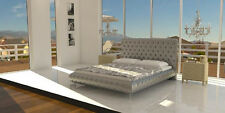 Crysta Upholstered Bed Beds Pads Wedding Leather Textile Designer Double round
