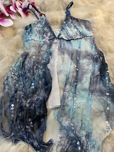 Unbranded blue sequins Camisole Top sleepwear nightwear size M