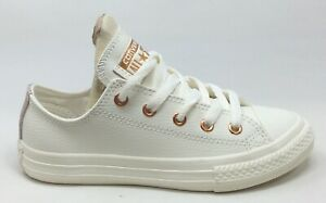 Converse Unisex Kids CT All Stars Ox Sneakers Egg White Blush Gold Size 11