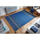 Kelim Estilo Étnico Alfombra Azul varios tamaños corredor y fundas cojín