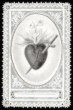 santino merlettato-holy card-canivet*LETAILLE-S.CUORE DI MARIA