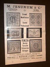 Pubblicità d'Epoca per Collezionisti del 1909 M.Jesurum & C.e Mobili Ducrot