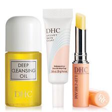 DHC Deep Cleansing Oil Mini, Velvet Skin Coat Mini, and Lip Cream, 4 samples