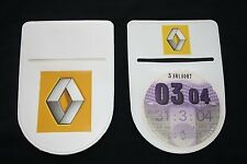 Renault Clio Sport Disco De Impuestos Titular-Auto-adhesivo con el logotipo de doble cara!