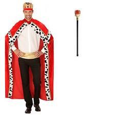 Kostüm König Robe Krone Zepter rot Gr. XL (54-58) Königsmantel Adel King