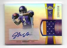 2012 Topps Finest Jarius Wright Rookie Patch Auto /1353