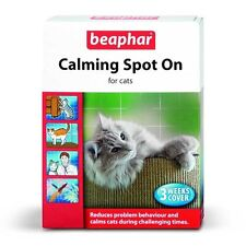 REDUCED Beaphar Calming Spot On Cats Valarian Extract Reduce Stress Feliway