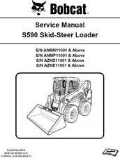 Bobcat S590 Skid-Steer Loader ANMN, ANMP, AZND, AZNE Service Manual CD