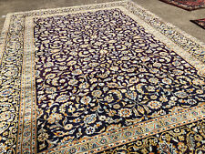 10x13 HAND KNOTTED BLUE PERSIAN RUG IRAN HANDMADE WOOL rugs antique 9x12 10x14