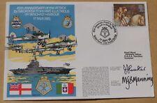 HMS illustre ATTACCO A BENGASI 1985 Copertina FIRMATA LT CDR's CARTER & MANNING