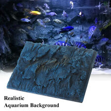 Stone Rock Wall Aquarium Fish Tank Vivarium Reptile 3D Background 600*450mm
