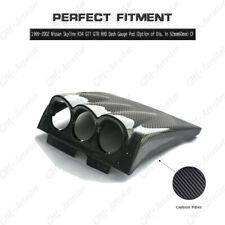 Carbon RHD Dash Gauge Pod 60mm For 99-02 Nissan Skyline R34 GTT GTR