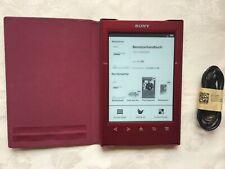 Sony eBook Reader PRS-T2 2GB, WLAN, 15,2 cm (6 Zoll), Rot, mit Extras, Wie NEU!