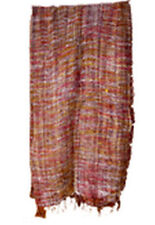 Handloom acrylic Scarf Oblong Striped Wrap Dupatta Fabric brown color