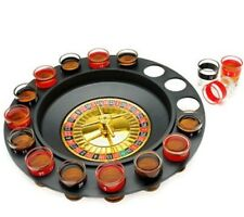 """12"""" Drinking Roulette Wheel Game Kit Roulete Spinning with Shot Glass Set"""