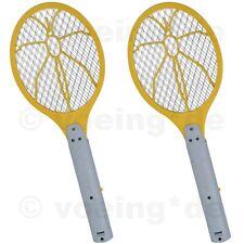 2 Stück Elektrische Fliegenklatsche Fliegen-Klatsche Insektenfalle Bug Zapper