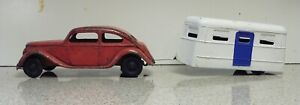 1930'S Kingsbury Lincoln Zephyr Wind-up Car and Camper with Camper