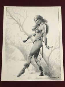 """RED SONJA POSTER 11X14"""" Poster NM SHIPPD FLAT SEXY WOMAN WARRIOR Bingham 2"""