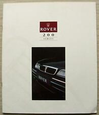 ROVER 200 SERIES Car LF Sales Brochure 1994 #4525 214Si 218SD 218SLD Turbo ++