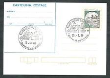 1986 ITALIA CARTOLINA POSTALE CASTELLO DI SPOLETO 450 LIRE FDC