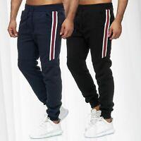 Herren Jogginghose Sporthose Sweat Pants Training Streifen Hose Track Pants