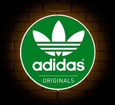 ADIDAS ORIGINALS TRAINERS GREEN LOGO BADGE SHOP SIGN LED LIGHT BOX GAMES ROOM
