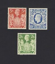 GB KGVI 1939 high values 2/6, 5sh & 10sh MM