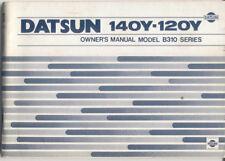 Datsun Nissan Sunny 1200 1400 B310 serie 1978-80 manual del propietario original